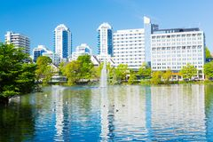Den Stavanger staden parkerar Arkivbilder
