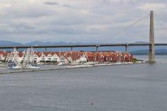 Den Stavanger stadsbron, Stavanger, Norge royaltyfri bild