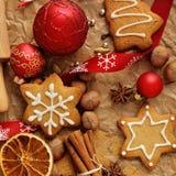 den stekheta moonen för julkakahjärta shapes stjärnan Royaltyfria Bilder