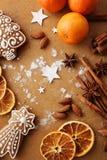 den stekheta moonen för julkakahjärta shapes stjärnan Arkivfoto