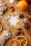 den stekheta moonen för julkakahjärta shapes stjärnan Fotografering för Bildbyråer