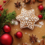 den stekheta moonen för julkakahjärta shapes stjärnan Royaltyfria Foton