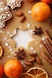 den stekheta moonen för julkakahjärta shapes stjärnan Arkivbilder