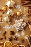 den stekheta moonen för julkakahjärta shapes stjärnan Royaltyfri Bild
