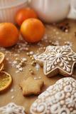 den stekheta moonen för julkakahjärta shapes stjärnan Royaltyfri Fotografi