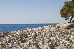 Den steniga armén i Istria Arkivfoto