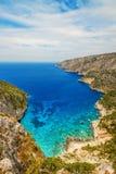 Den steniga kusten av Kampi, Zakynthos ö royaltyfri fotografi