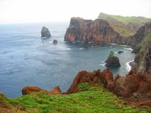 Den steniga kusten av Tenerife royaltyfri fotografi
