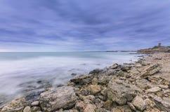 Den steniga seacosten Fotografering för Bildbyråer