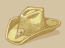 Den Stetson hatten skissar stock illustrationer