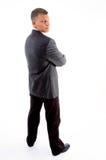 den stiliga tillbaka affärsmannen poserar standing Royaltyfria Foton