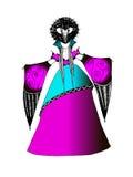 Den stiliserade klänningen av renässans Arkivbilder