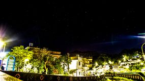 Den stjärnklara natten av bygd Arkivfoton