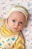 den stora blåa pojken eyes little royaltyfri foto