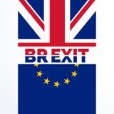 Den stora britian utgången röstar beslut i brexitfolkomröstning stock illustrationer