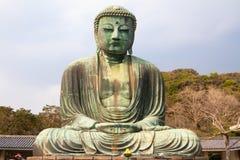 Den stora Buddha av Kamakura, Japan Arkivbilder