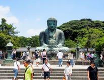 Den stora Buddha av Kamakura, Japan Arkivfoton