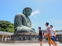 Den stora Buddha av Kamakura, Japan Arkivfoto