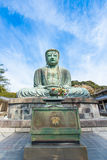 Den stora Buddha Daibutsu är en bronsstaty av den Amida Buddha Arkivbilder