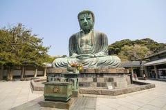 Den stora Buddha, Daibutsu, i Kamakura, Japan Royaltyfria Bilder