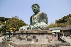 Den stora Buddha, Daibutsu, i Kamakura, Japan Arkivbilder