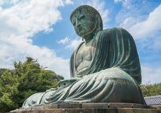 Den stora Buddha Daibutsu i Tokyo, Japan Arkivbilder