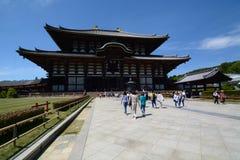 Den stora Buddha Hall Todaiji buddistisk tempel nara japan Arkivbild