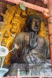 Den stora Buddha på den Todai-ji templet i Nara, Japan Fotografering för Bildbyråer