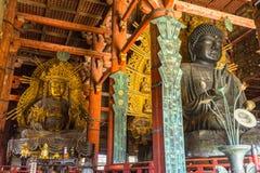 Den stora Buddha på den Todai-ji templet i Nara, Japan Arkivfoto