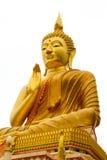 Den stora Buddha på isolerad bakgrund Arkivfoton