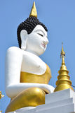 Den stora Buddhaen avbildar och slösar skyen Royaltyfria Foton