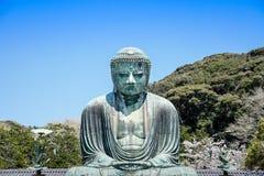 Den stora buddhaen, Daibutsu, av Kamakura, Japan Arkivbild