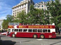 Den stora bussen turnerar bussen i Washington DC Arkivbilder