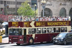 Den stora bussen turnerar bussen i Washington, DC Royaltyfri Fotografi
