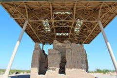 Den stora casaen fördärvar den nationella monumentet Arizona royaltyfria foton