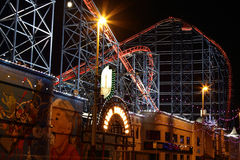 Den stora en rollercoasteren på Blackpool, UK Royaltyfri Fotografi