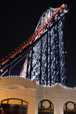 Den stora en rollercoasteren på Blackpool, UK Royaltyfria Foton