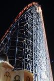 Den stora en rollercoasteren på Blackpool, UK Arkivfoto