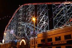 Den stora en rollercoasteren på Blackpool, UK Royaltyfria Bilder