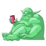 Den stora feta internet fiska med drag i royaltyfri illustrationer