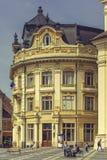 Den stora fyrkanten och stadshuset, Sibiu, Rumänien Royaltyfri Foto