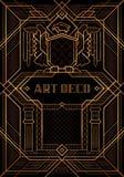 Den stora Gatsby Deco stilvektorn vektor illustrationer