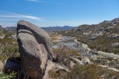 Den stora granitplatån, Mt Buffelnationalpark, Australien Arkivbilder