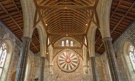 Den stora Hallen av den Winchester slotten i Hampshire, England royaltyfria bilder