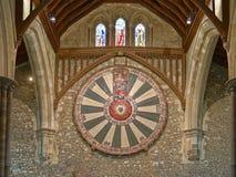 Den stora Hallen av den Winchester slotten i Hampshire, England arkivbilder