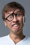 Den stora head grabben gör galna framsidasinnesrörelser Fotografering för Bildbyråer