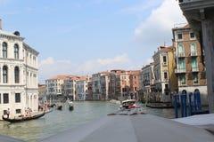 Den stora kanalen i venice, Italien Arkivbilder