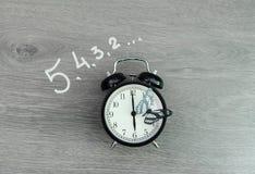 Den stora klockan ser till upp vaken nedräkning Arkivbild