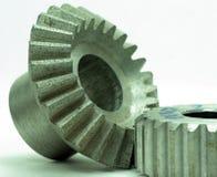 Den stora kuggen wheels in motorn Royaltyfria Bilder