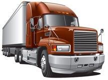 Den stora leveransen åker lastbil Royaltyfria Foton